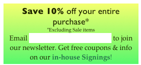 Save 10% off your entire purchase* 